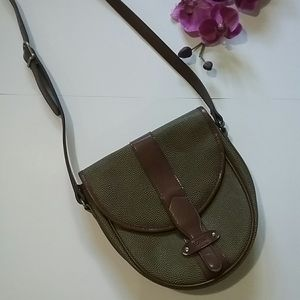 ESPRIT Olive  & Brown Small Crossbody Bag